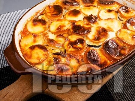 Запечени патладжани с топено сирене - снимка на рецептата